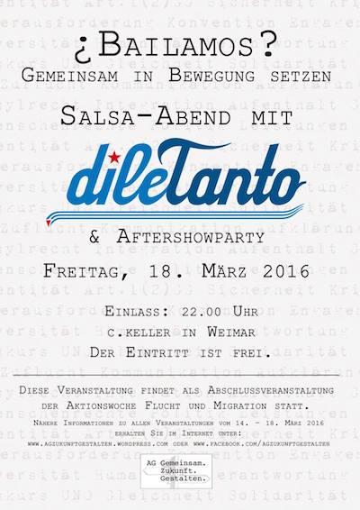 ¿Bailamos? - Gemeinsam in Bewegung setzen Salsaparty in Erfurt