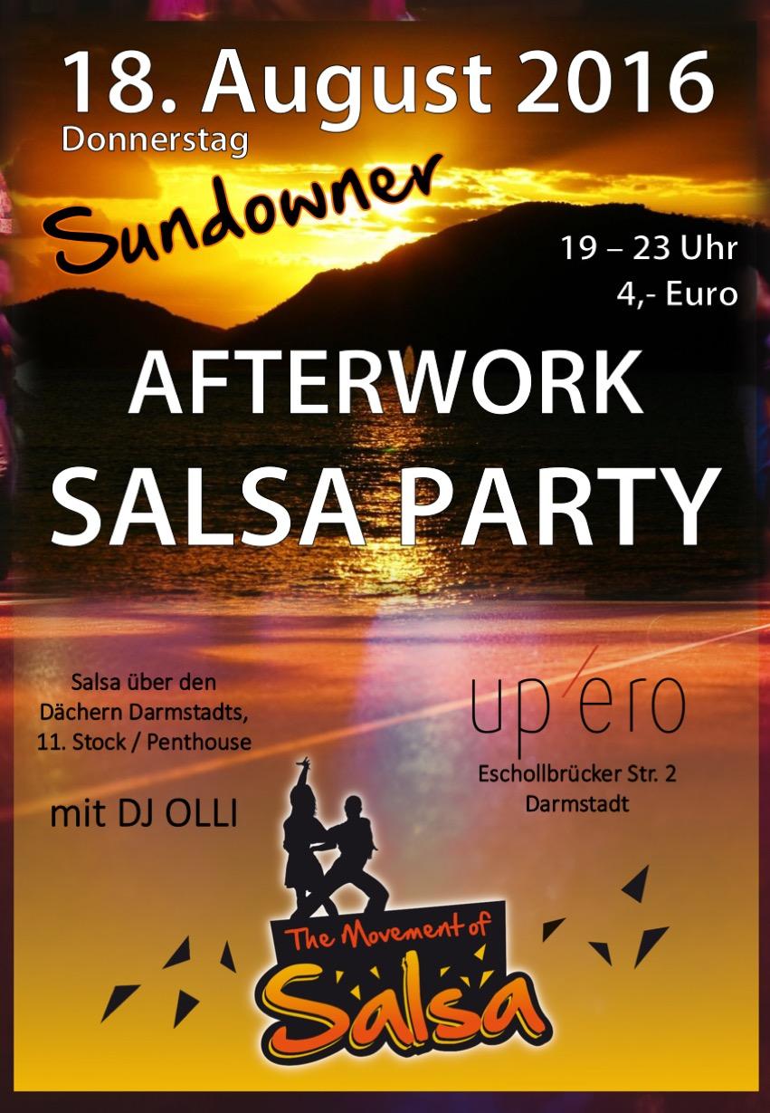 Afterwork Salsa Party in der Upéro Bar in Darmstadt