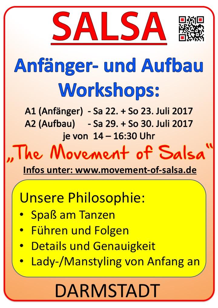 Salsa Anfänger- und Aufbau Workshop in Darmstadt