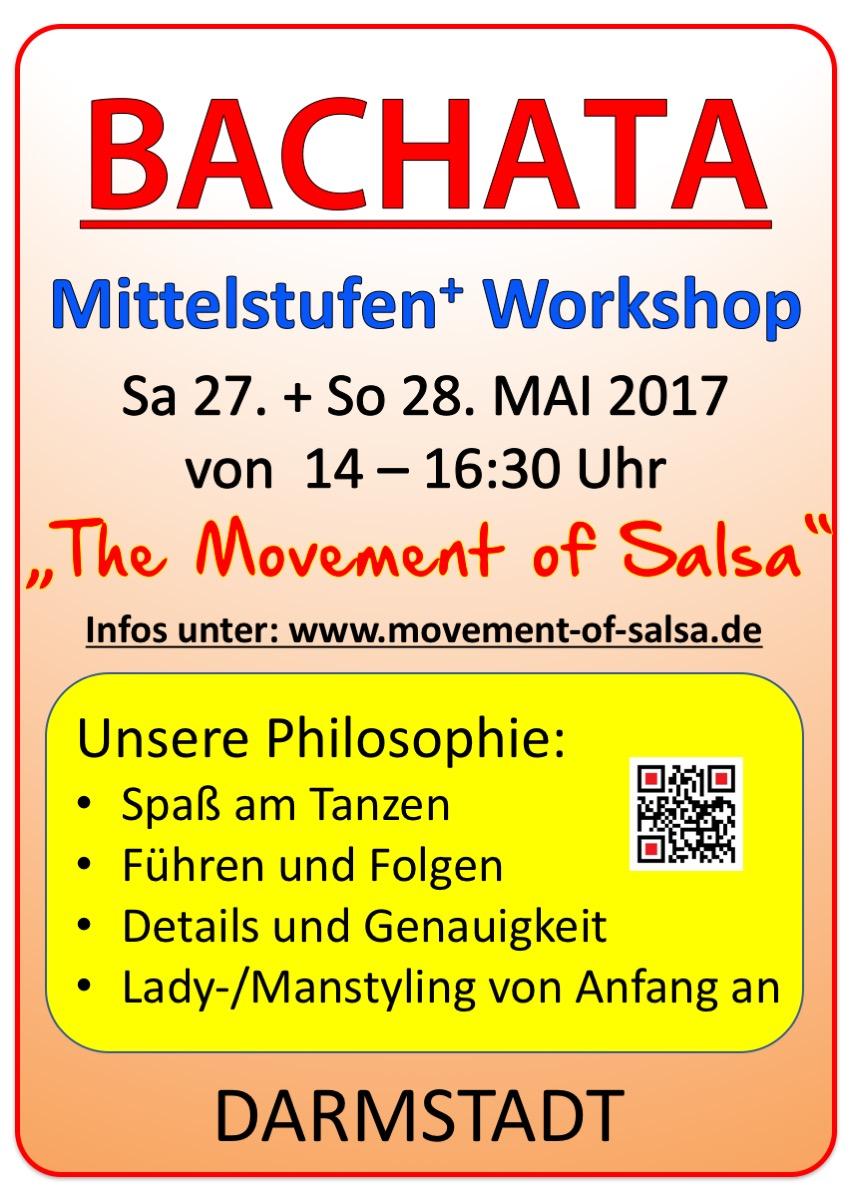 Bachata Mittelstufen(Plus) Workshop in Darmstadt