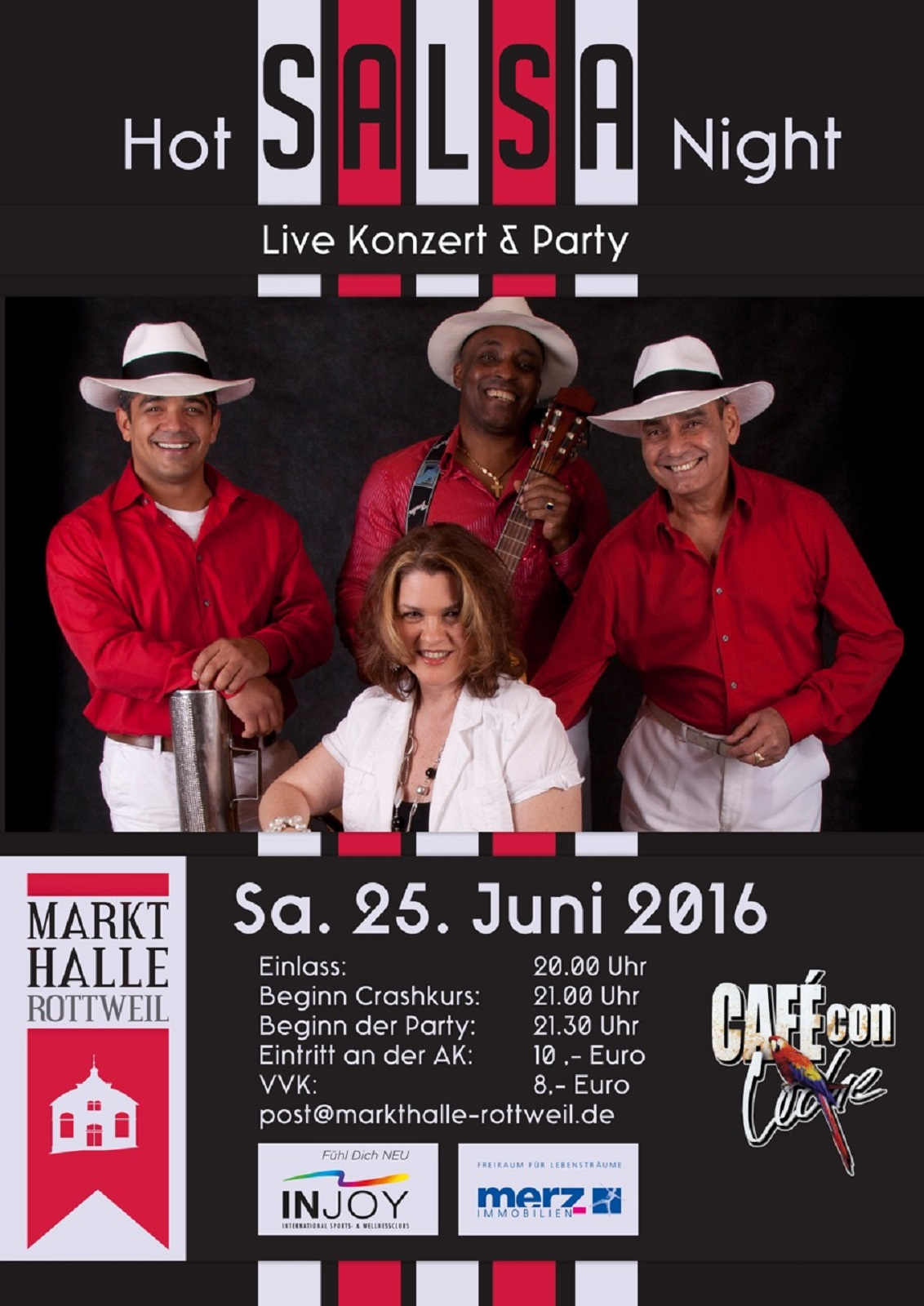 HOT SALSA NIGHT mit CAFÉ CON LECHE in der MARKTHALLE ROTTWEIL in Rottweil