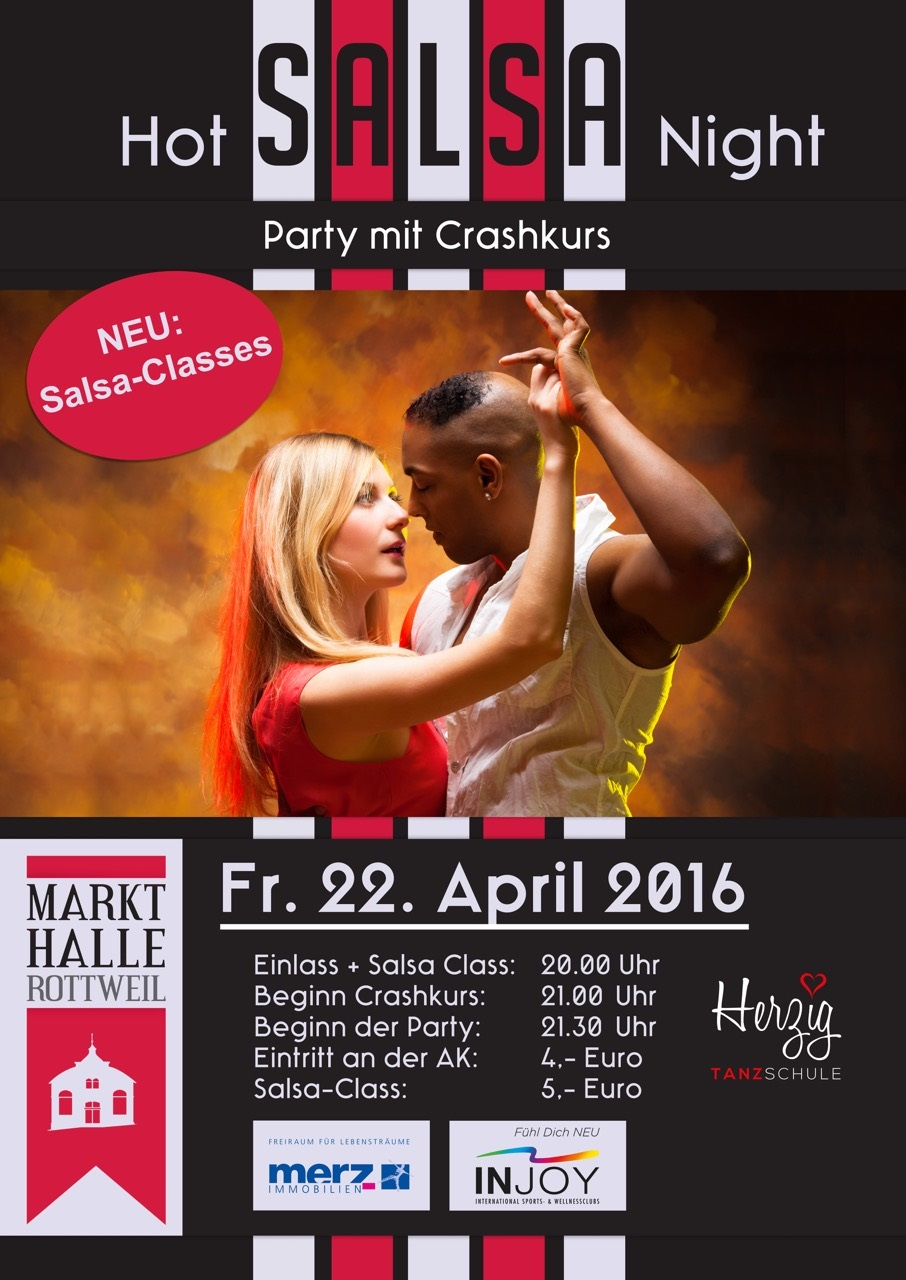 HOT SALSA NIGHT in der MARKTHALLE ROTTWEIL Salsaparty in Rottweil