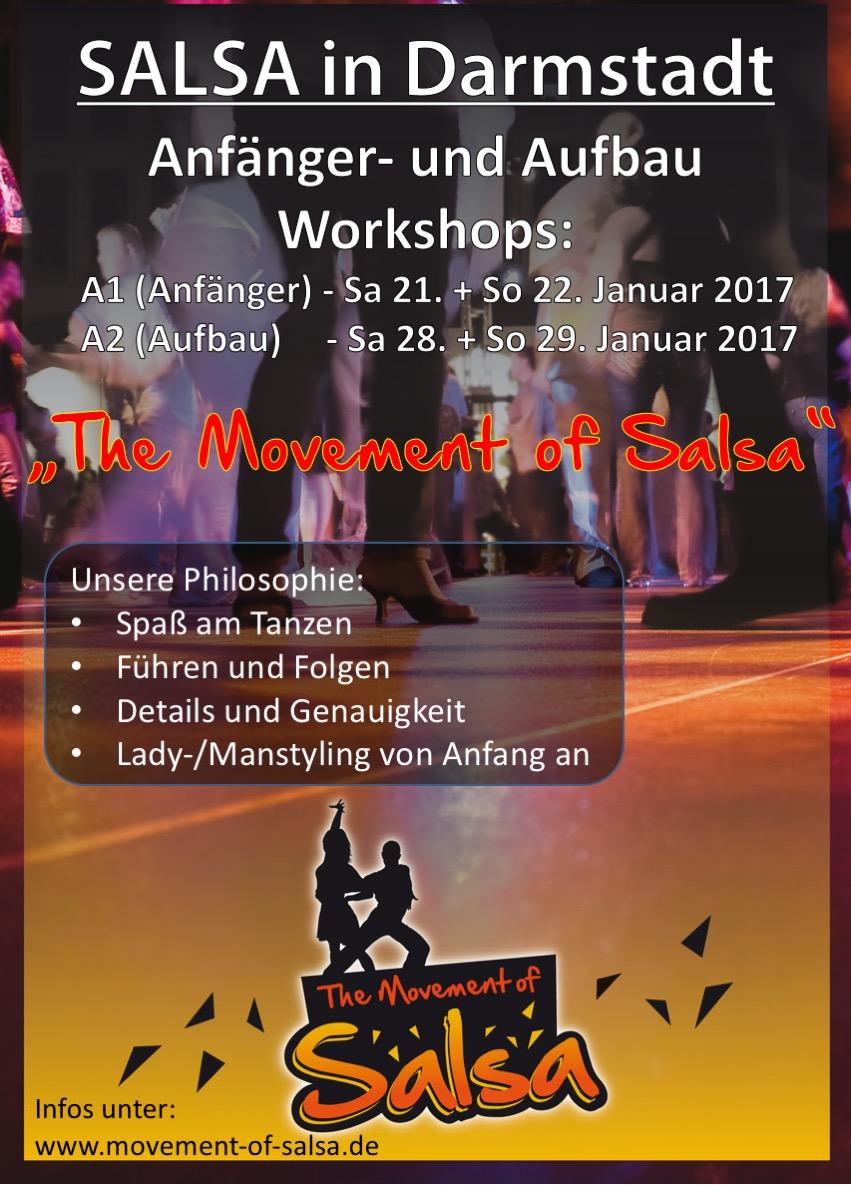 Neuer Salsa Anfänger- und Aufbau Workshop in Darmstadt