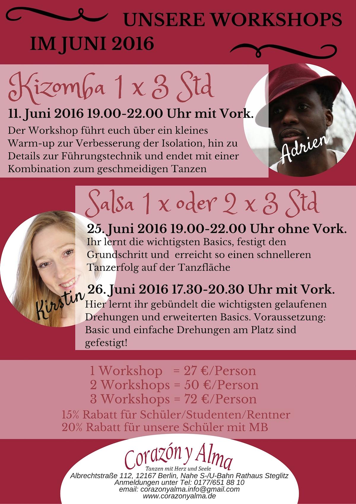 Salsa für Einsteiger / Einsteiger mit Vorkenntnissen in Berlin