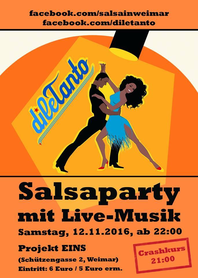 Salsaparty mit Live-Konzert <dileTanto> in Erfurt