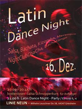 XMas - Latin Dance Night  @ Linie Neun. in Darmstadt