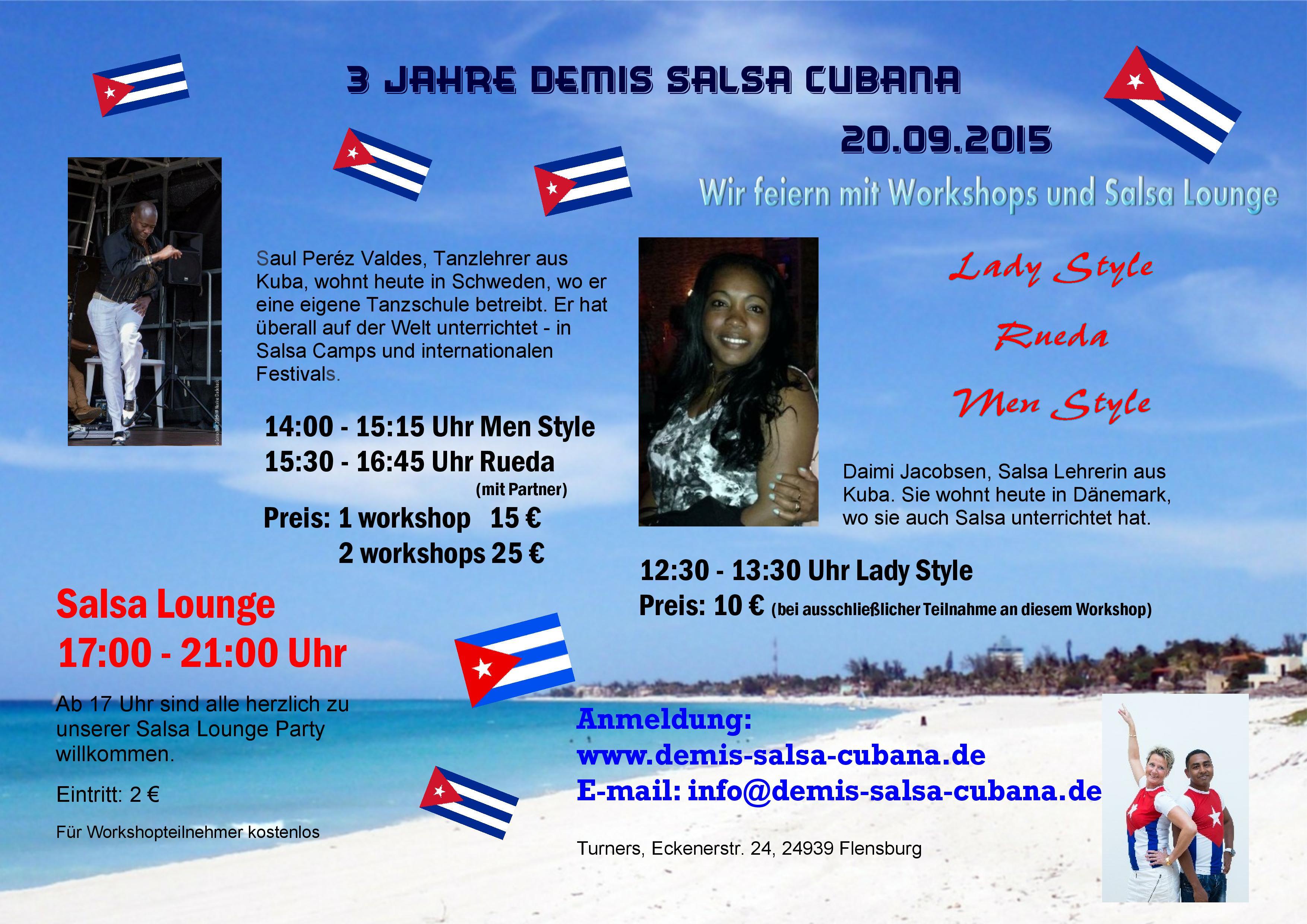 Salsa Workshop - 3 Jahre Demis Salsa Cubana in Flensburg