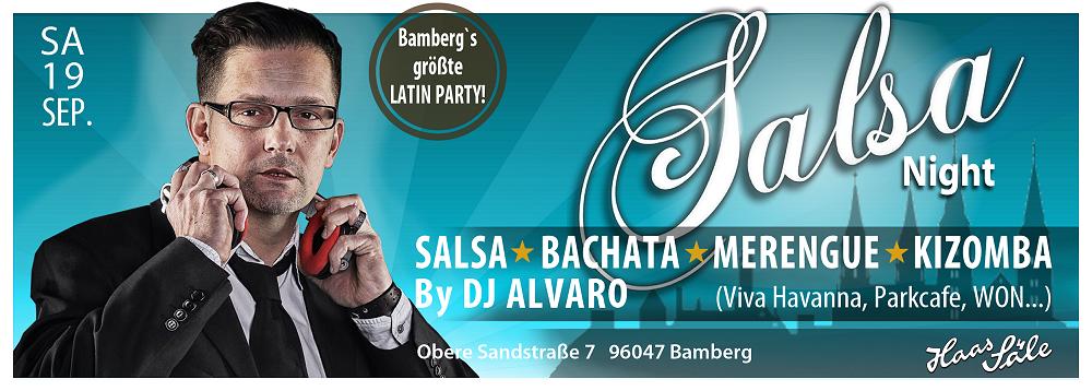 SALSA-NIGHT in den Haas-Säleen in Bamberg