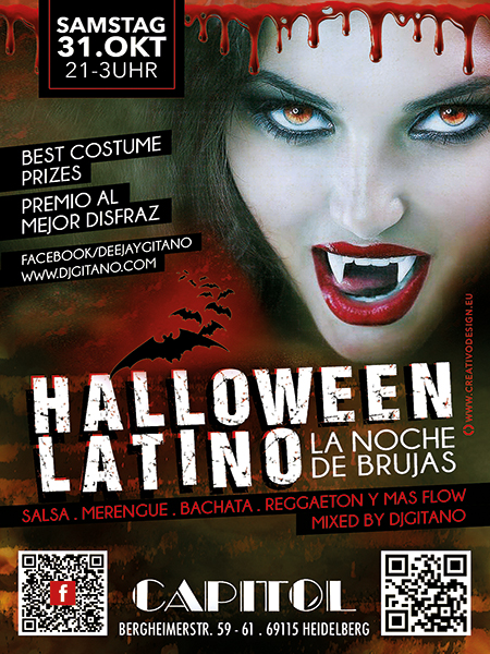 Halloween Latino by Dj Gitano in Heidelberg