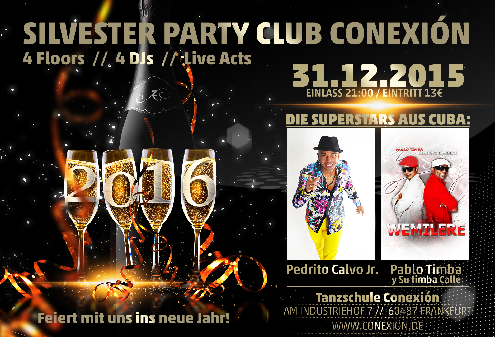 Salsa-Silvesterparty mit LIVE Musik in Frankfurt am Main