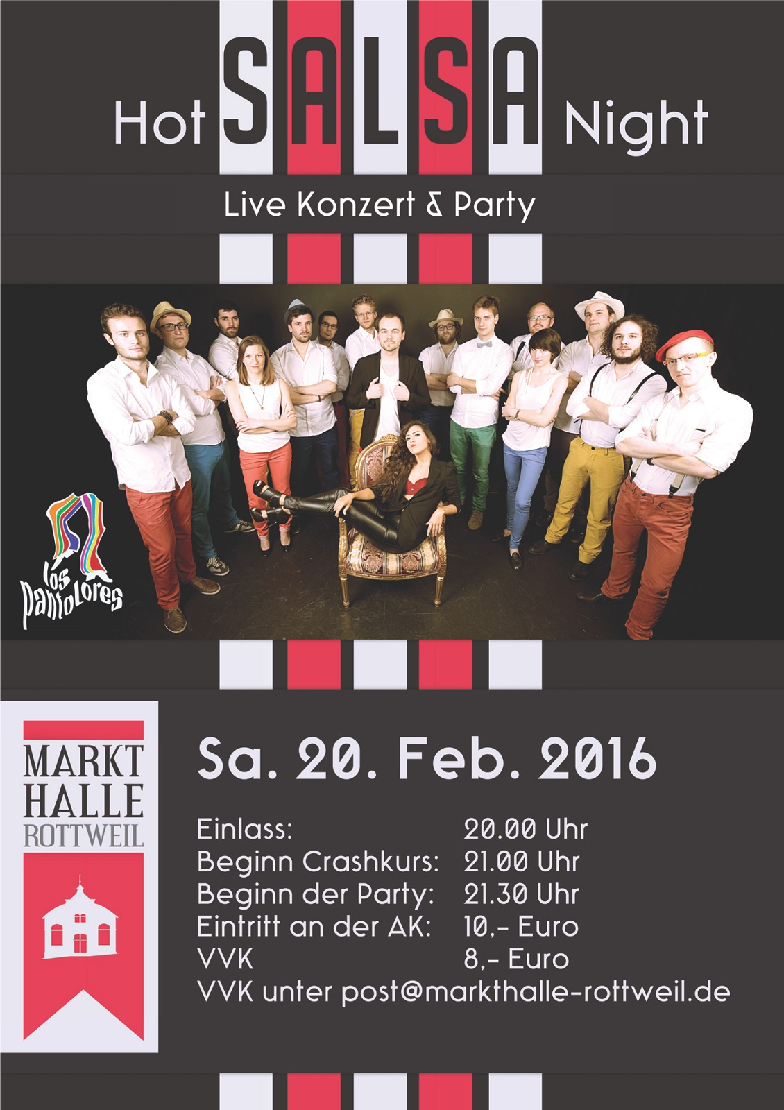 HOT' N' SPICY SALSA NIGHT in der MARKTHALLE ROTTWEIL Salsaparty in Rottweil