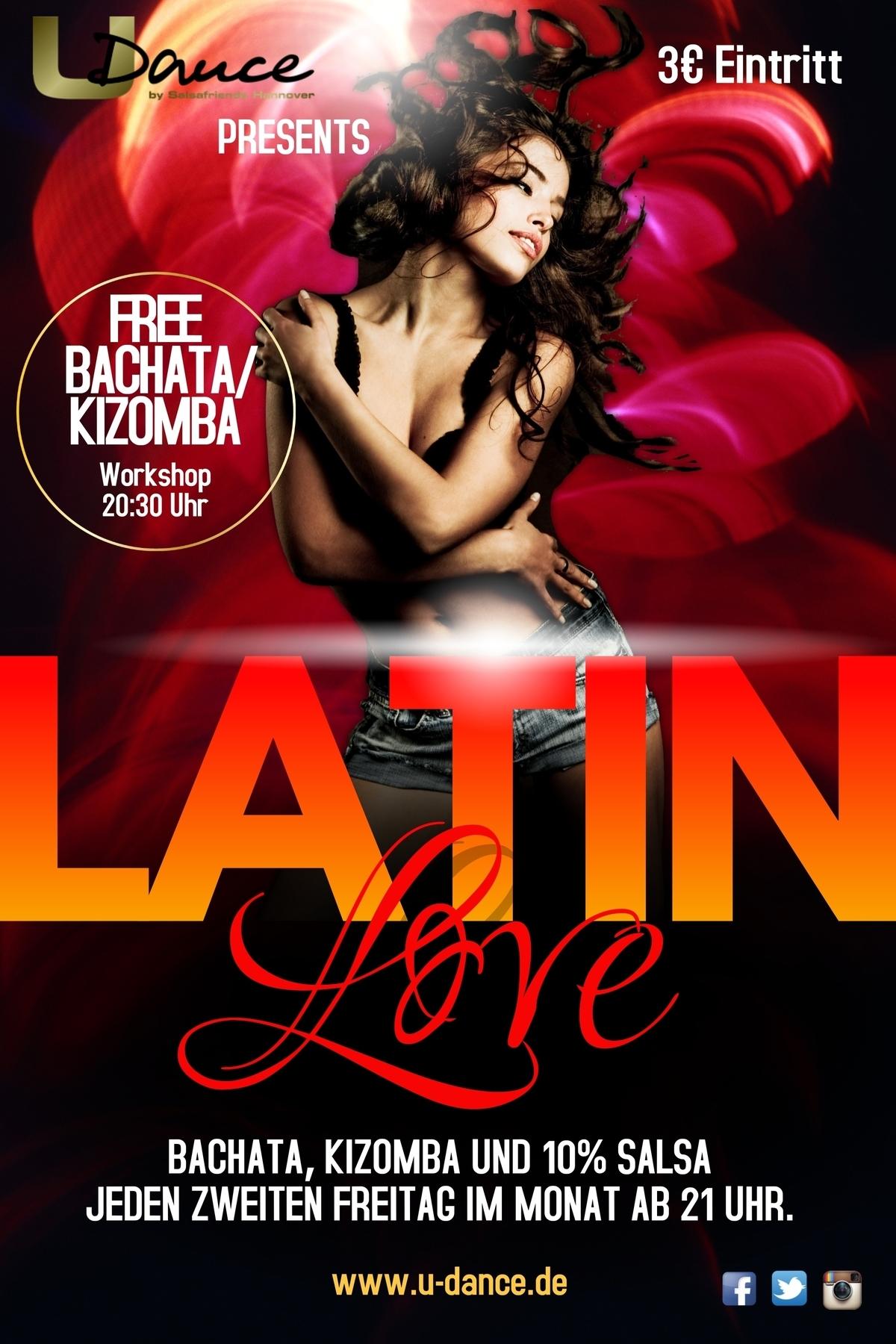 LATIN LOVE PARTY MIT KIZOMBA BACHATA SALSA in Hannover