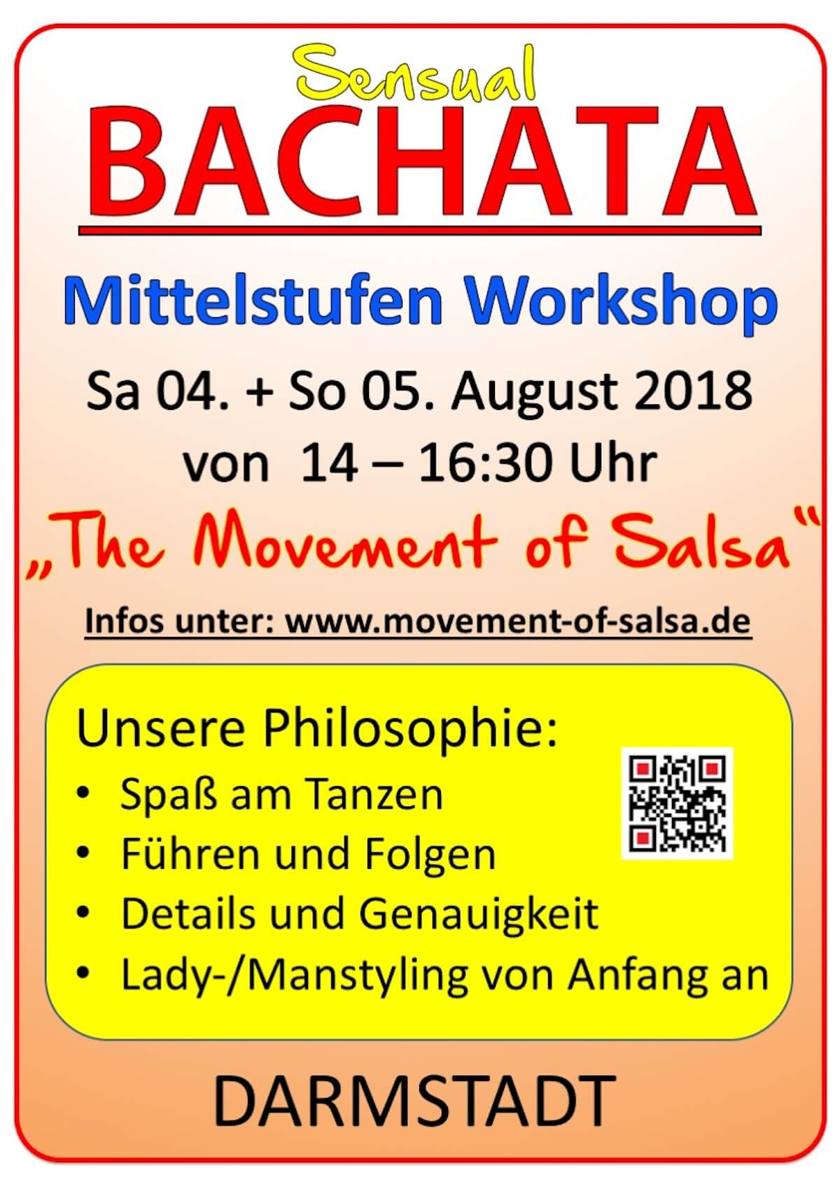 "Bachata Mittelstufen Workshop ""Sensual"" in Darmstadt"