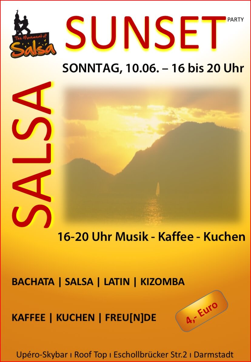 Salsa-Sunset in der Upéro-Skybar in Darmstadt
