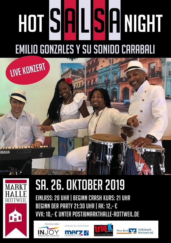 Salsa live mit Emilio Gonzales y su Sonido Carabali in Rottweil