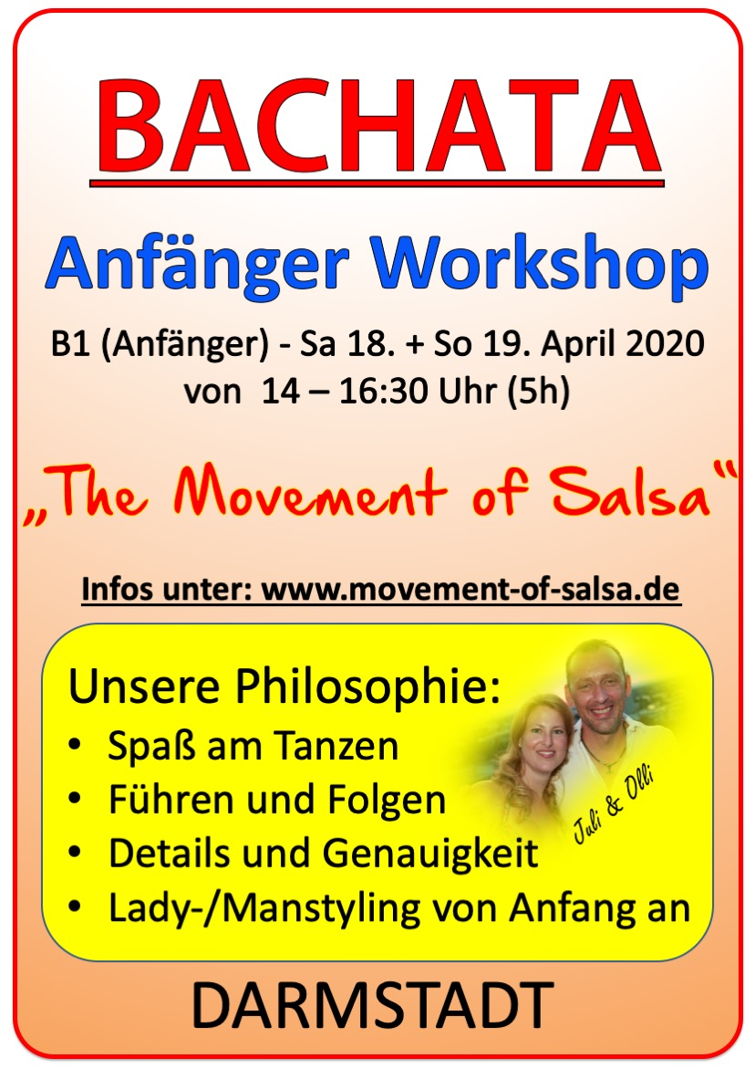 Bachata Anfänger Workshop in Darmstadt