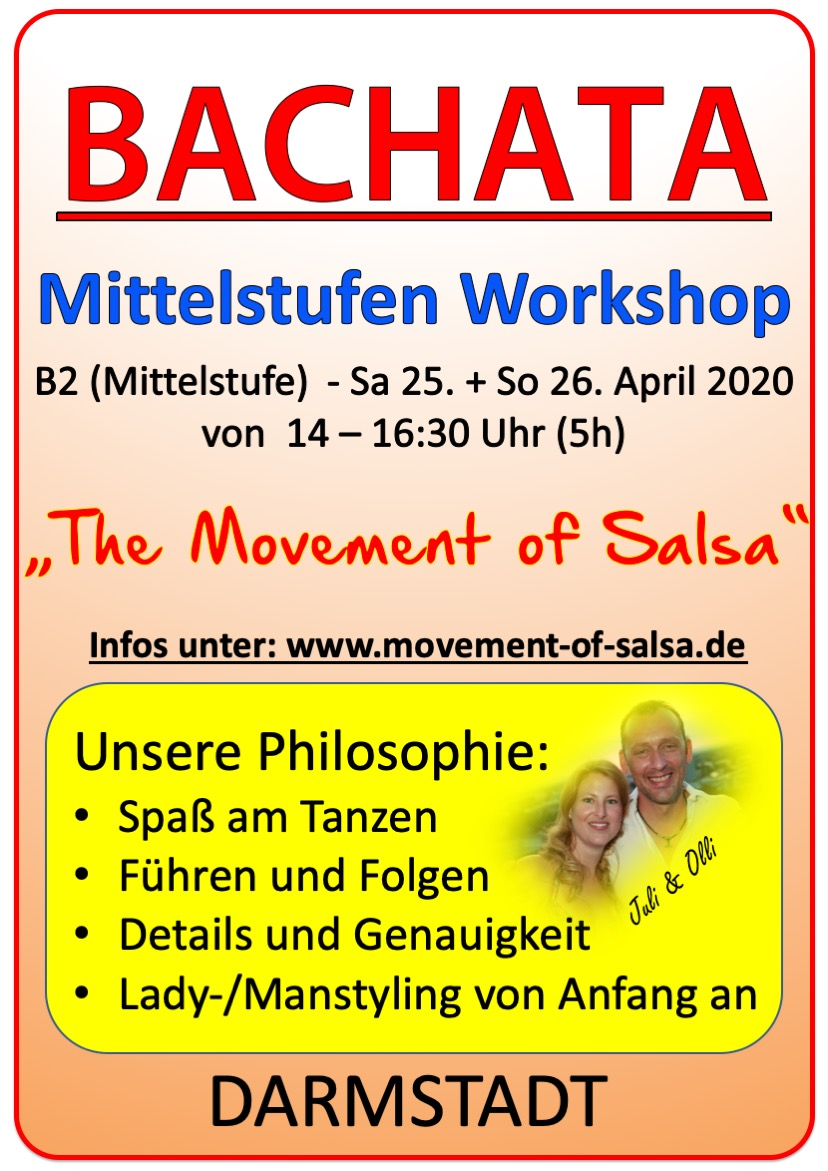 Bachata Mittelstufen Workshop in Darmstadt
